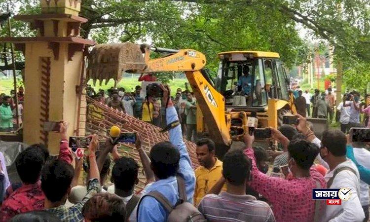 বিশ্বভারতীর পাঁচিল কান্ডে তদন্তে জেলা পুলিশ